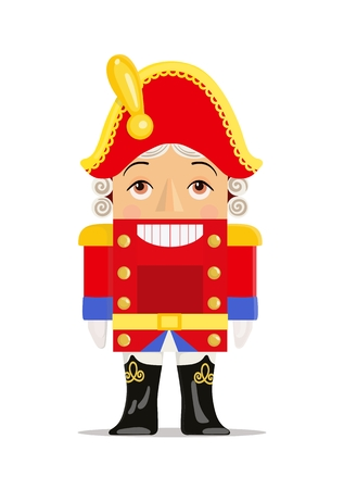 Nutcracker toy vector icon on white background. Christmas symbols and toys. Standard-Bild - 127261736