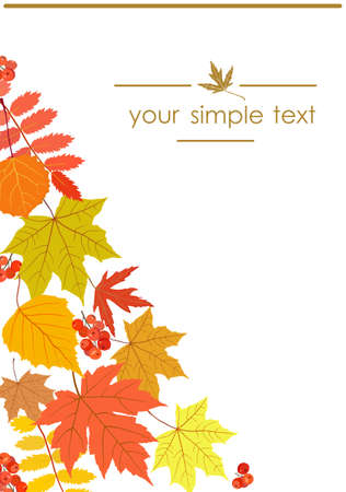 Banner design with autumn leaves. Vector illustration