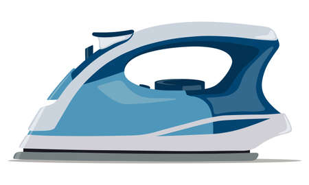 Electric iron for ironing. Household appliances icon. Vector illustration. Векторная Иллюстрация