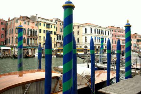 秋の間にヴェネツィアの大運河 写真素材