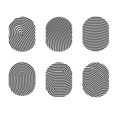 Vector Fingerprints set Vector
