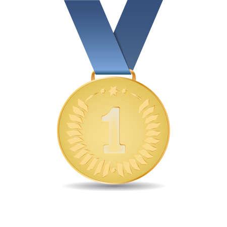 1st place: Golden medal award for 1st place Illustration