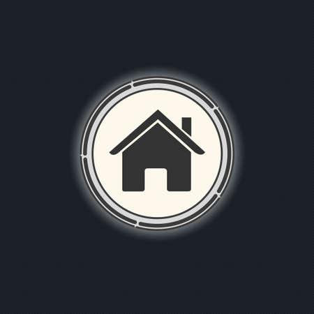 home button: Home button. Illustration