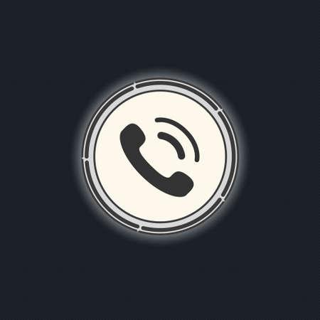 phone button: Phone button vector