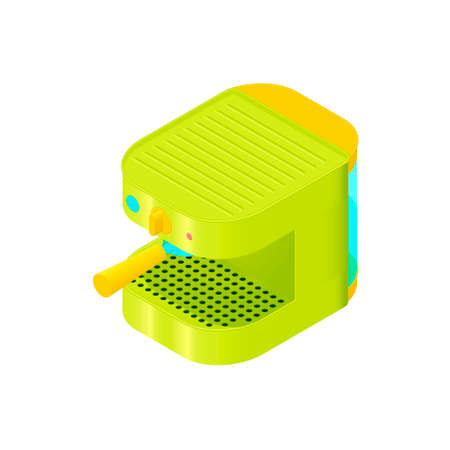coffee maker: Colorful isometric coffee maker