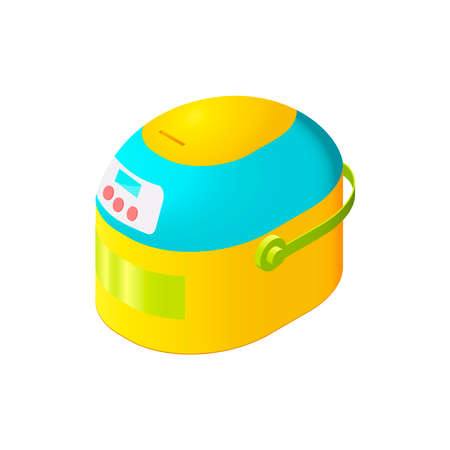backing: Colorful isolated isometric steamer for modern interior and game design