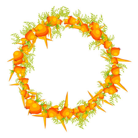 verdure: Close-up of decorative garland made of carrot, onion and verdure. Isolated