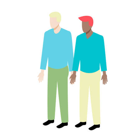 african american couple: Young isometric couple different nationality standing holding hands