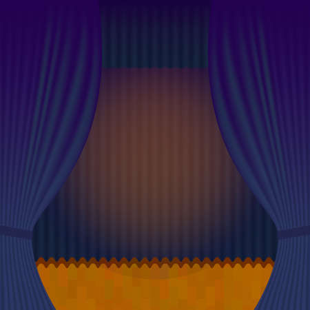 thespian: Curtain Theatre reopening. Vector background for invitations, announcements of events and exhibitions Illustration