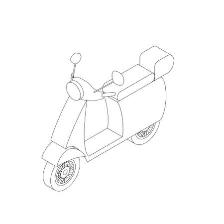 moped: Isometric moped illustration for infographics and web design