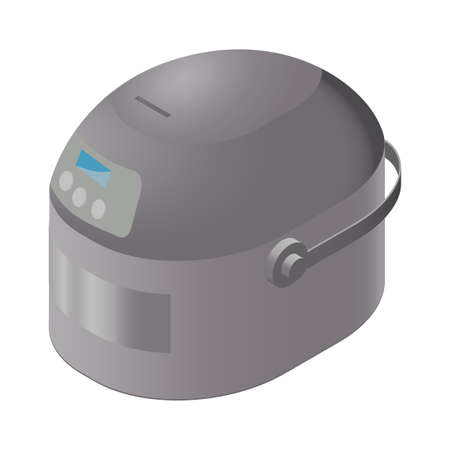 An electric crock pot slow cooker. Vector illustration for infographic and game design