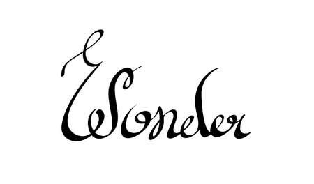 wonder: lettering. Wonder word Illustration