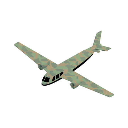 gun control: Isometric military airplane icon illustration for infographics and game design Illustration