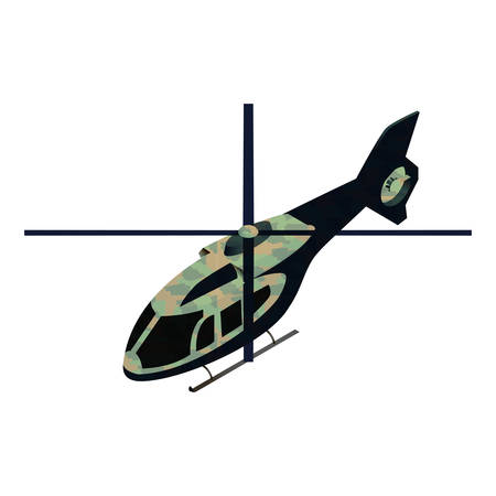 usaf: Isometric military helicopter illustration for infographics and game design Illustration