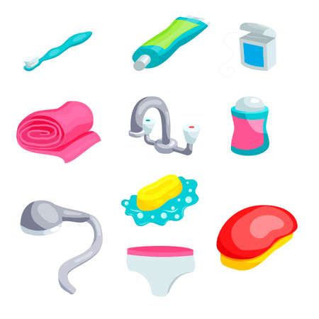 Personal Hygiene Items Care And Clean Bathroom Object Vector Royalty Free Cliparts Vectors Stock Illustration Image 59302649