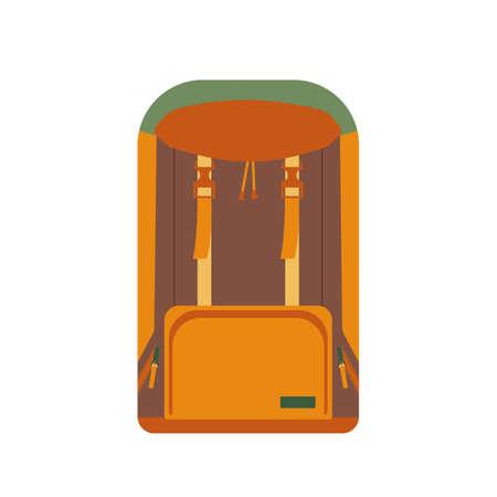 packsack: Hunting ammunition. Cartoon backpack icon, vector illustration