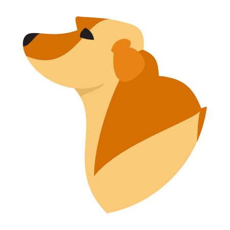 pedigree: Pedigree dog head labrador retriever golden. Pedigreed lovely pet, vector illustration Illustration