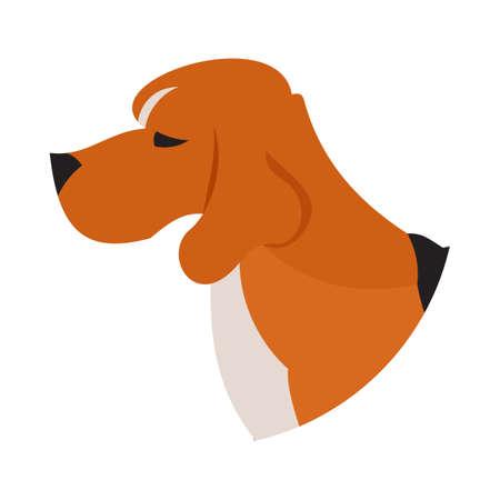 pedigree: Pedigree dog head beagle. Puppy pet isolated on white background, vector illustration Illustration