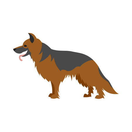 German shepherd dog. Pet breed and mammal pedigree domestic,  illustration