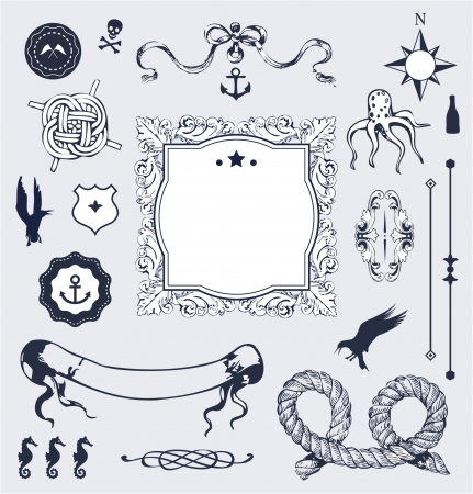 knots: Nautical  set with elements for Your design