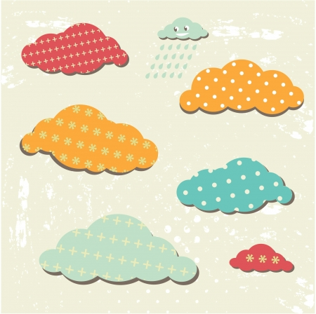 Seamless pattern with happy cloud. Can use for cardinvitation design Illustration