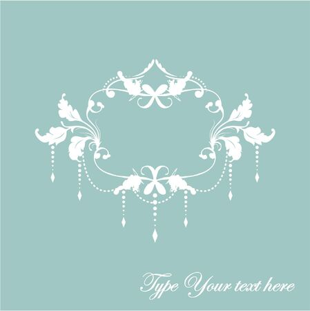 Floral frame with pendants and place for Your text Vector