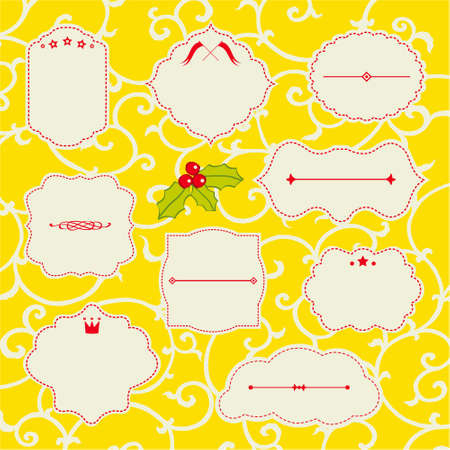 Christmas frame set Stock Vector - 15770464