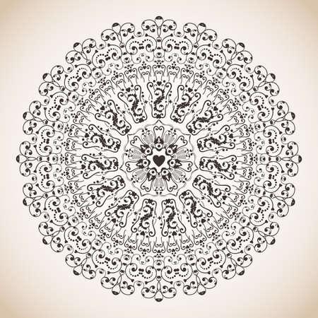 Vintage circle lace ornament