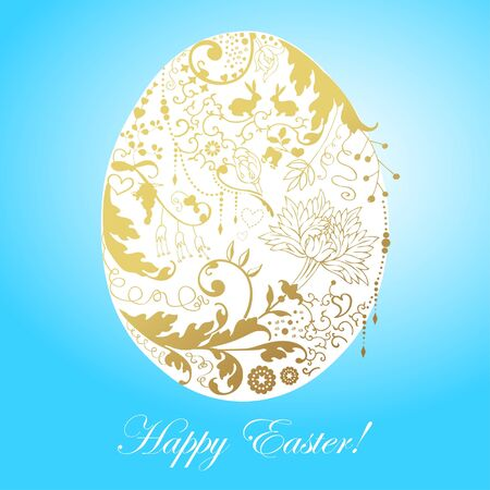 Easter card with stylized floral egg Stock Vector - 18169432