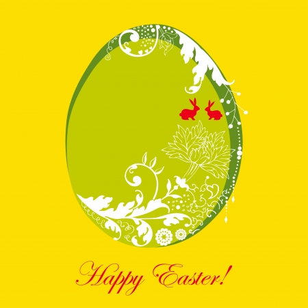 Easter card with stylized floral egg Stock Vector - 18169412