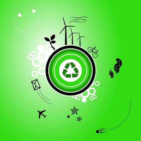Go green planet Vector