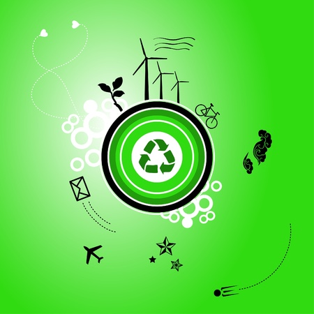 sattelite: Go green planet