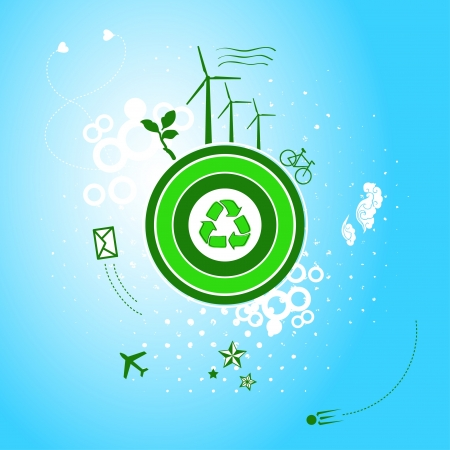Go green planet Vector
