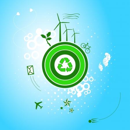 sattelite: Go green planet