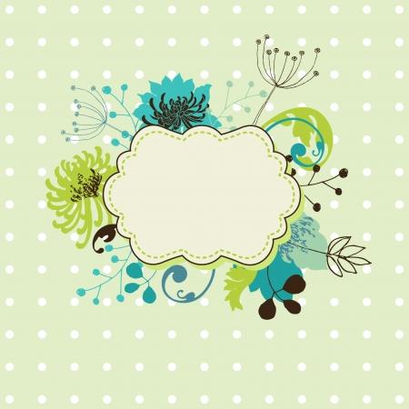 doodle text: Floral frame