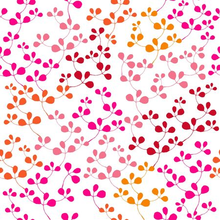 Bright seamless pattern with leaf Illustration