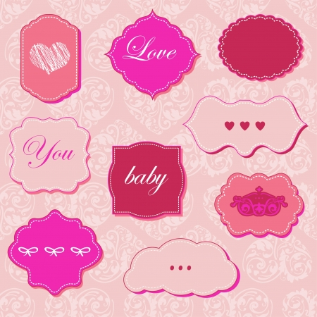Set of lovely frames Stock Vector - 18169462