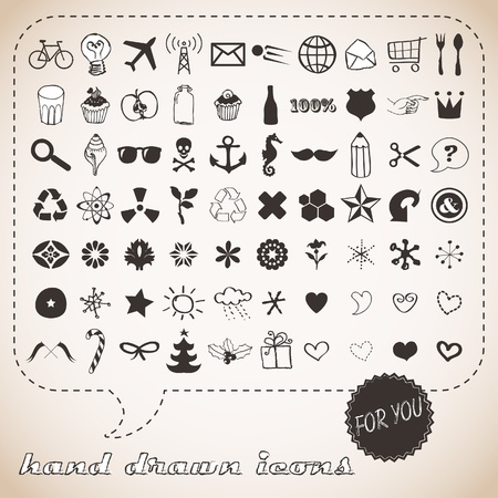 Hand drawn icons set for You Stock Vector - 18169447