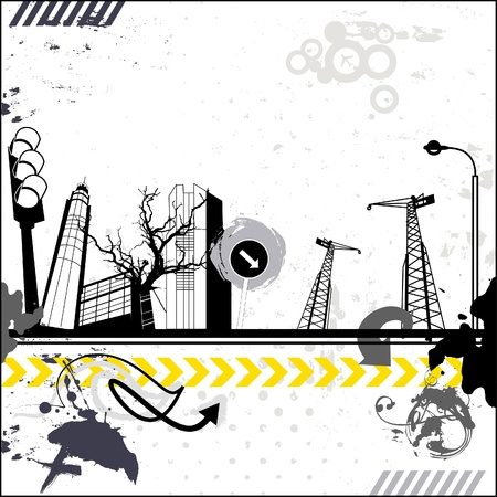 Grunge urban card  Stock Vector - 18169459
