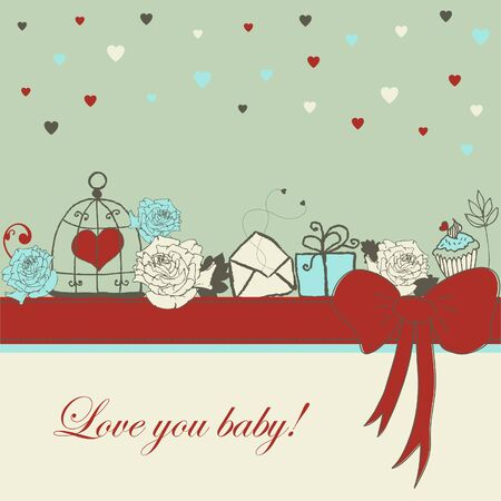 Card - Love you baby! Stock Vector - 18169425