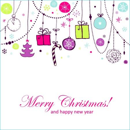 Cheerful Christmas card Reklamní fotografie - 18173135