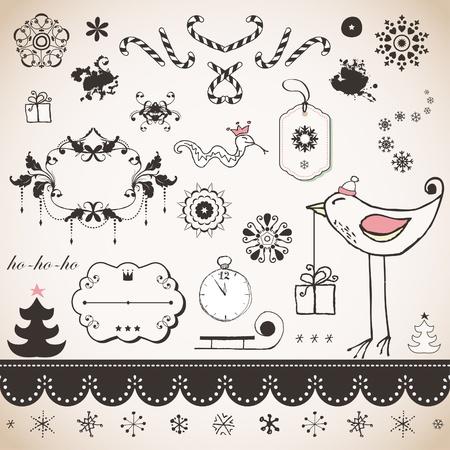 Vintage Christmas set Stock Vector - 18175646