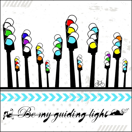 Be my guiding light - card Stock Vector - 18176133