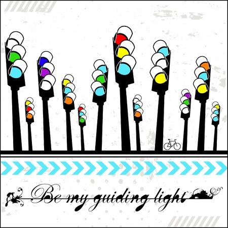 guiding: Be my guiding light - card