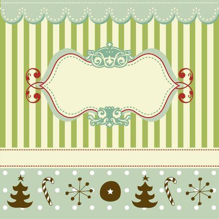 Retro Christmas card  Illustration