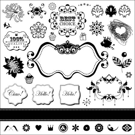 Vector set in vintage style for You Stock Vector - 18180336