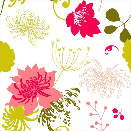Colorful floral pattern Flowers texturebackground  Vector