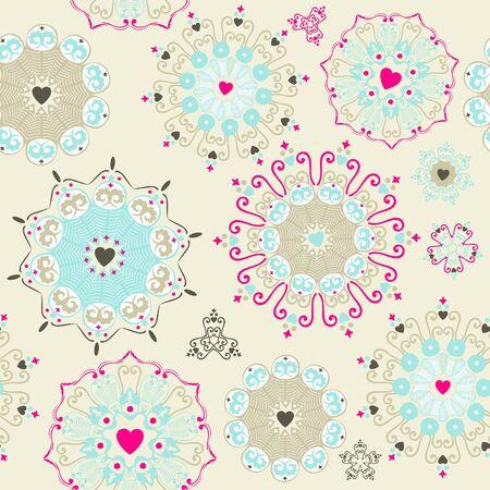 Lovely seamless pattern  Illustration