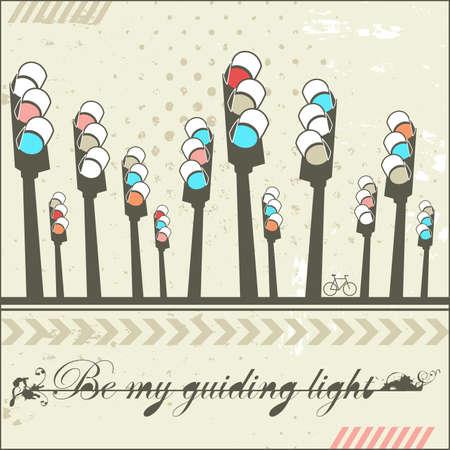 Be my guiding light - card  Stock Vector - 18197403