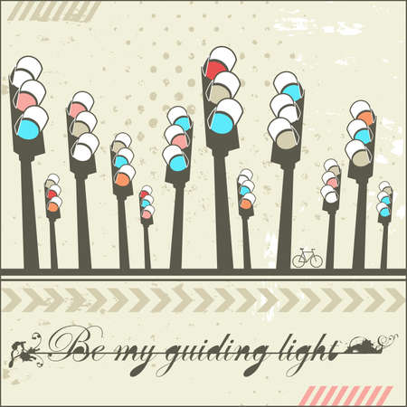 Be my guiding light - card Stock Vector - 18197403